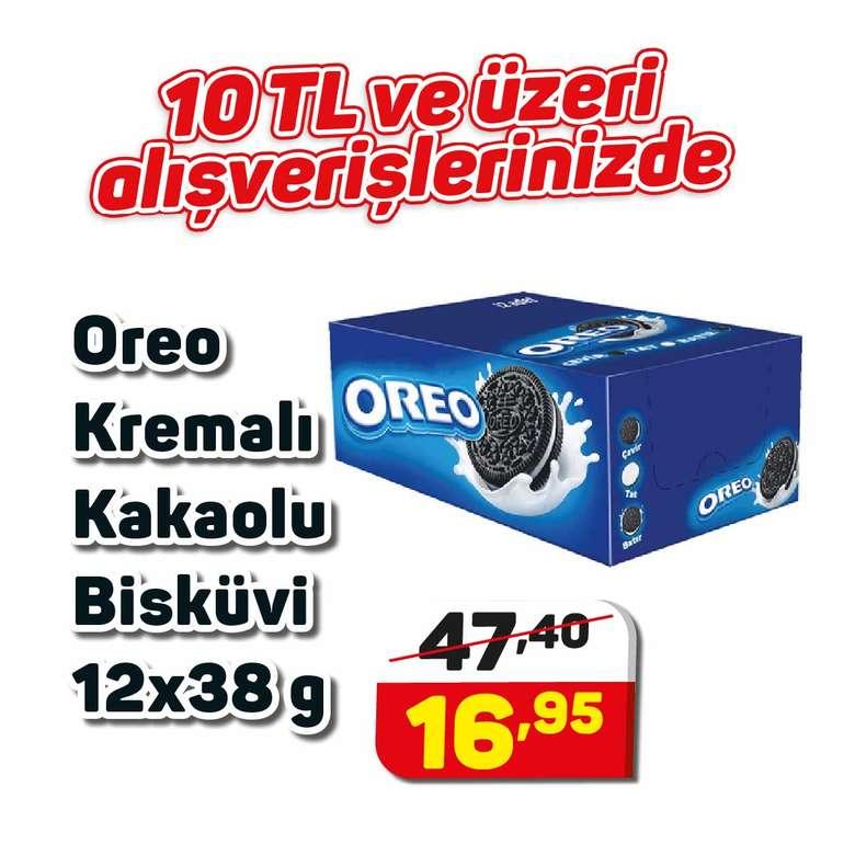 Oreo Bisküvi Kremalı Kakaolu 12x38 G
