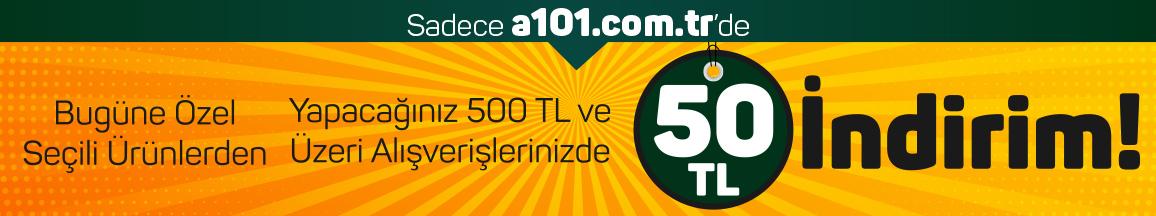 500 TL ve Üzeri Siparişlerde 50 TL İndirim - 17 Eylül